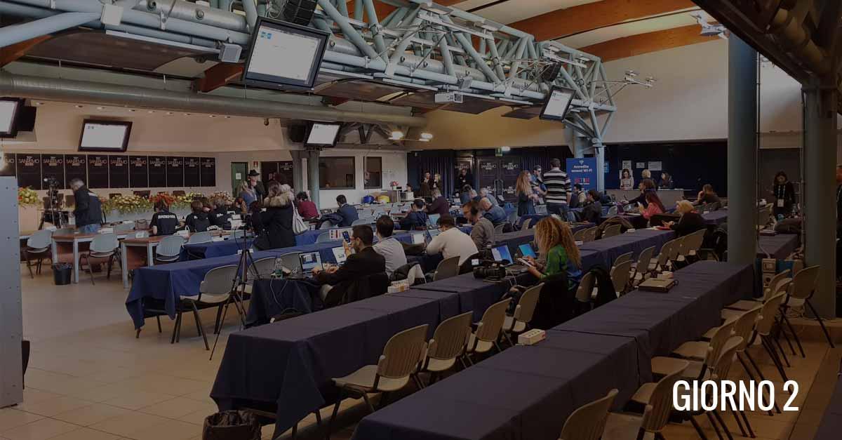 Città di Sanremo in sala stampa per il Festival: giorno 2