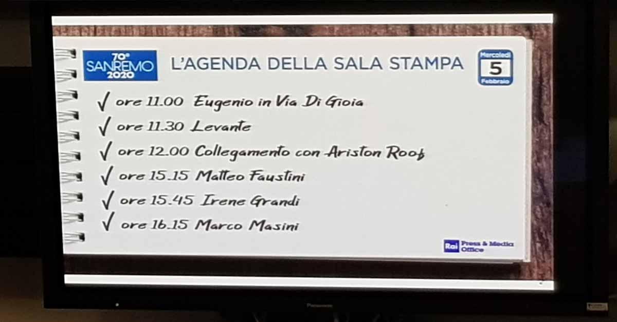 Città di Sanremo in sala stampa per il Festival: giorno 3