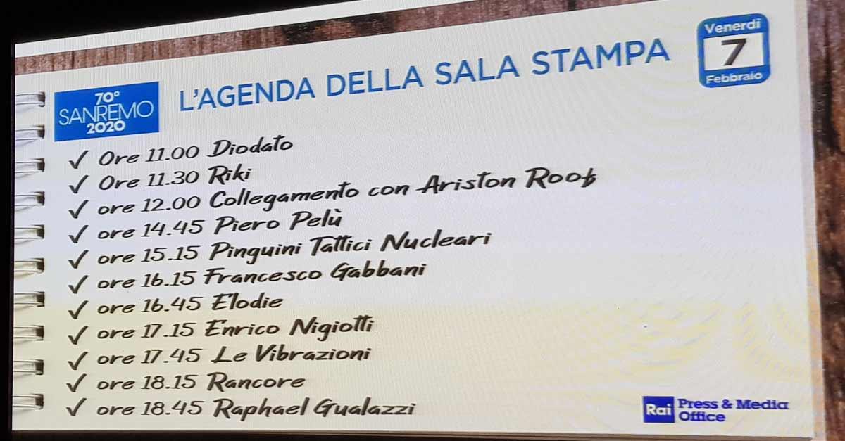 Città di Sanremo in sala stampa per il Festival: giorno 5